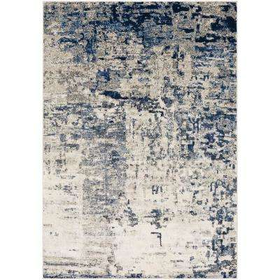 Aldona Navy 7 ft. 10 in. x 10 ft. 3 in. Abstract Area Rug