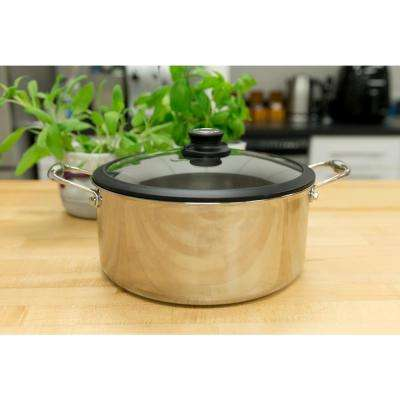 7.5 Qt. Covered Stainless Steel Stock Pot