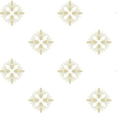 28.18 sq.ft. Honey Bee Peel and Stick Wallpaper