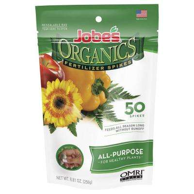 8.81 oz. Organic All Purpose Plant Food Fertilizer Spikes with Biozome, OMRI Listed (50-Pack)