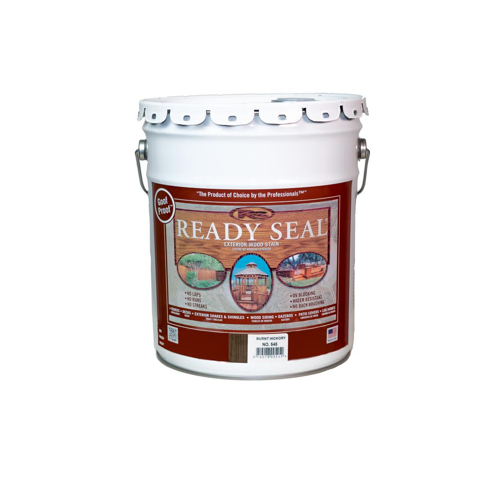 Ready Seal 5 Gal. Burnt Hickory Exterior Wood Stain and Sealer