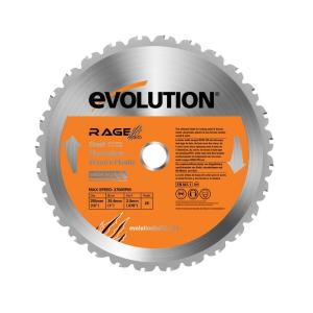 Evolution Power Tools RAGE 10 inch Multipurpose Replacement Blade by Evolution Power Tools