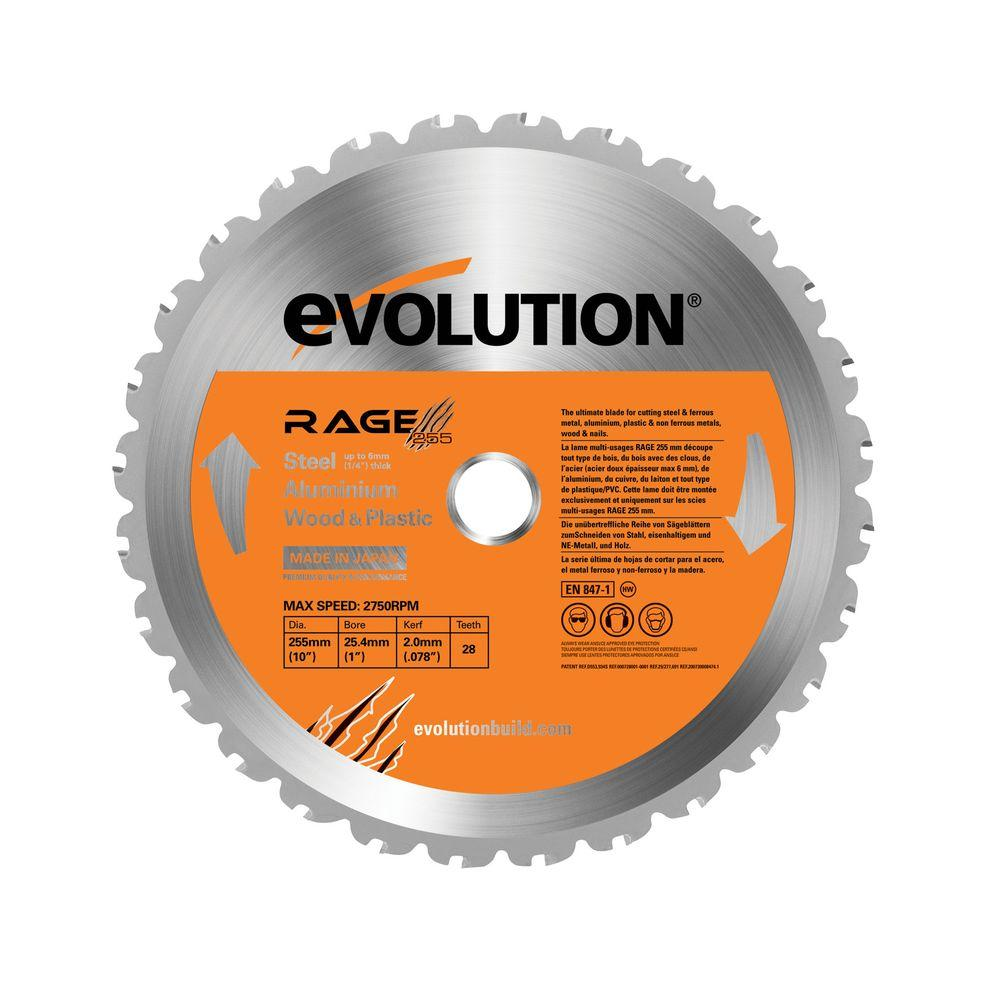 Evolution Power Tools RAGE 10 in. Multipurpose Replacement Blade