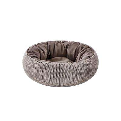 KNIT Cozy Small Sandy Resin Pet Bed