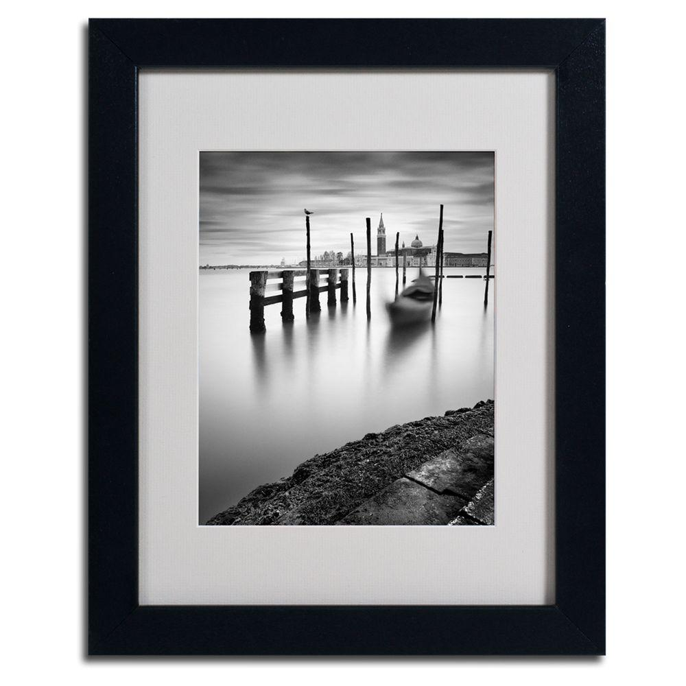 null 11 in. x 14 in. Venice Canal Grande Matted Framed Art