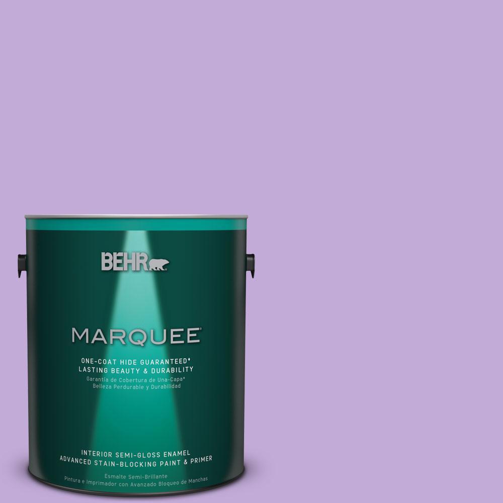 BEHR MARQUEE 1 gal. #MQ4-59 Purple Gladiola One-Coat Hide Semi-Gloss Enamel Interior Paint