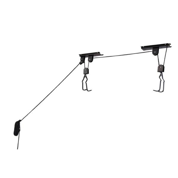 100 lb. Capacity Ceiling Mount Bicycle Lift Hoist for Garage Storage