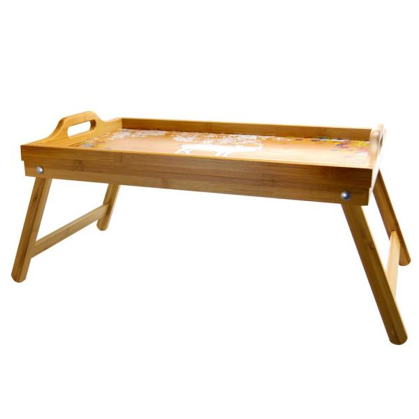 Bamboo Bed Tray With Foldable Legs