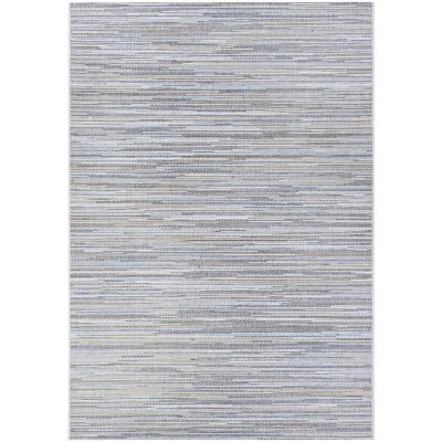 Monte Carlo Coastal Breeze Taupe-Champagne 5 ft. 10 in. x 9 ft. 2 in. Indoor/Outdoor Area Rug