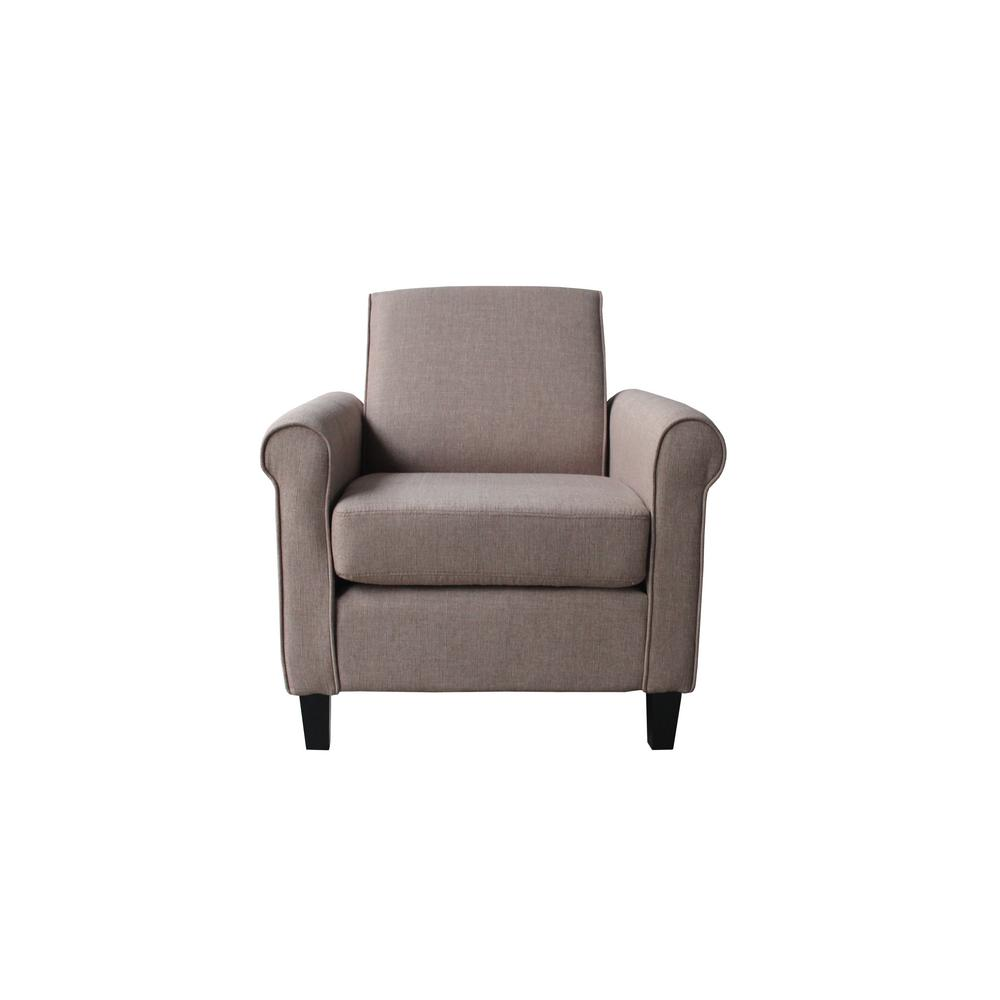 Brown fabric arm chair c118 the home depot