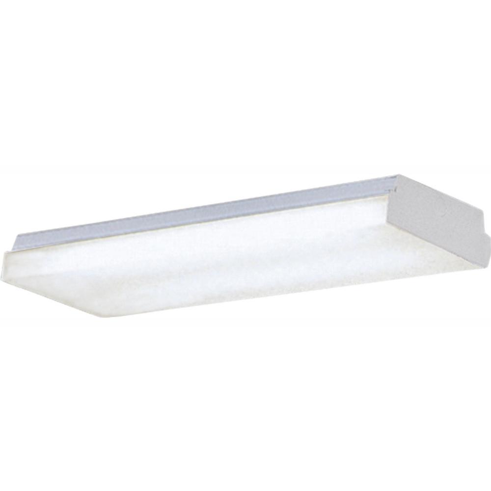 Progress Lighting 2-Light White Fluorescent Fixture-P7183
