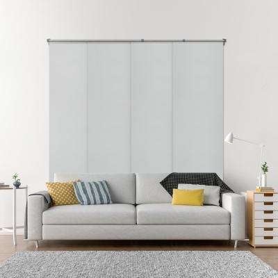 Adjustable Sliding Panel / Cut to Length, Curtain Drape Vertical Blind, Function, Blackout - Gainsboro
