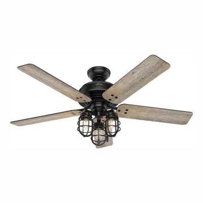 Port Isabel 52 in. LED Indoor/Outdoor Matte Black Ceiling Fan with Light Kit