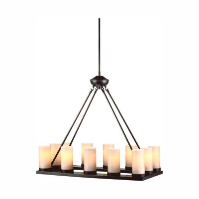 Ellington 12-Light Burnt Sienna Chandelier with LED Bulbs