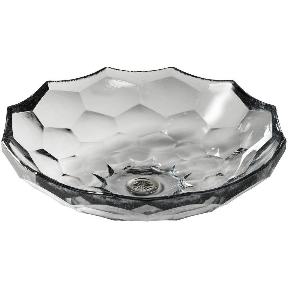 KOHLER Briolette Glass Vessel Sink In Ice