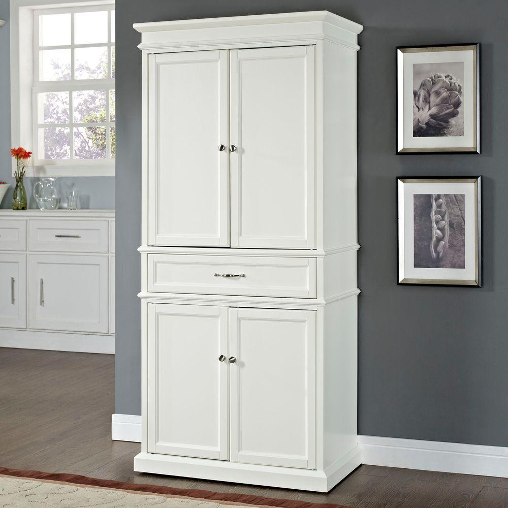 Crosley parsons white storage cabinet cf3100 wh the home for Best brand of paint for kitchen cabinets with wall art canada