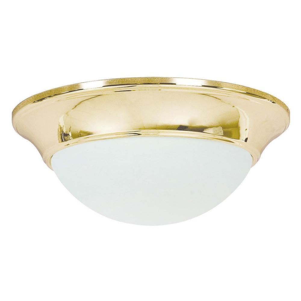 Sunset Lighting Mcclellan 1 Light Polished Brass Flush