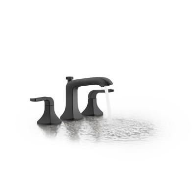 Rubicon 8 in. Widespread 2-Handle Bathroom Faucet in Matte Black (Valve Included)