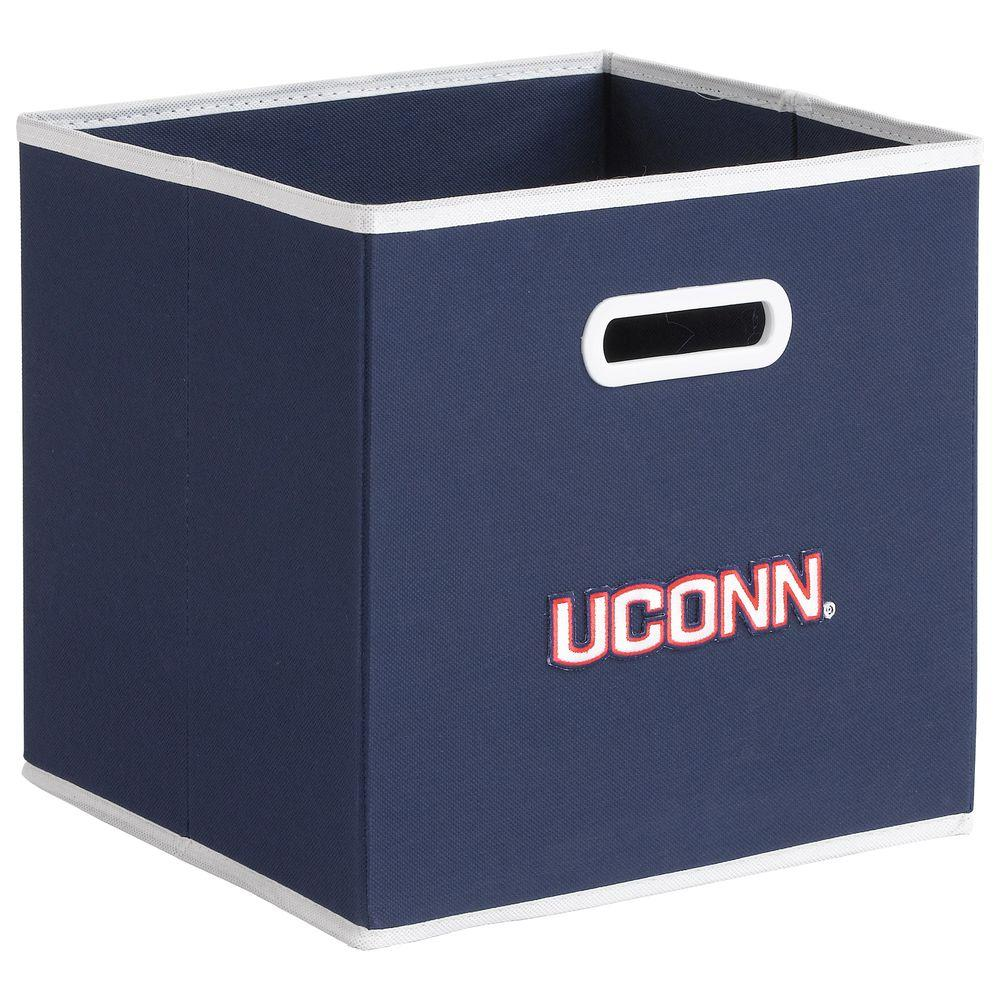 null College STOREITS University of Connecticut 10-1/2 in. W x 10-1/2 in. H x 11 in. D Navy Fabric Storage Drawer