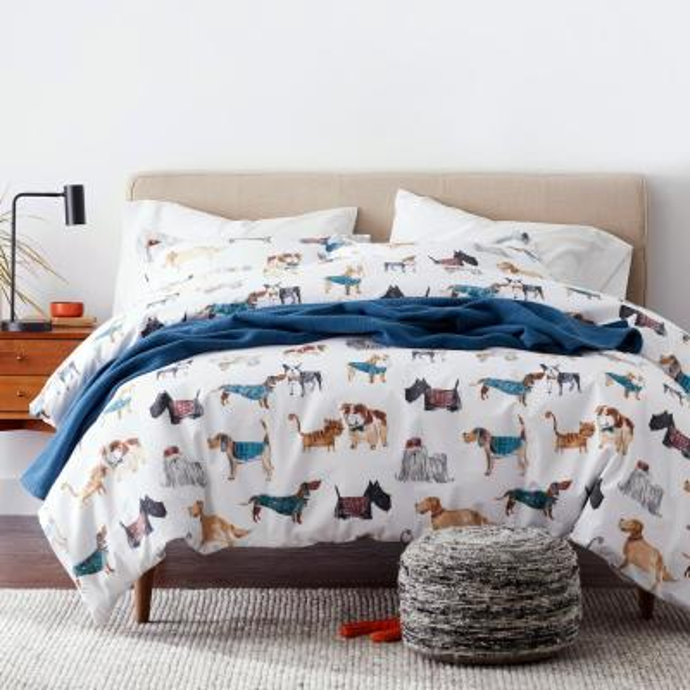 Cozy Companions Graphic Cotton Percale Duvet Cover