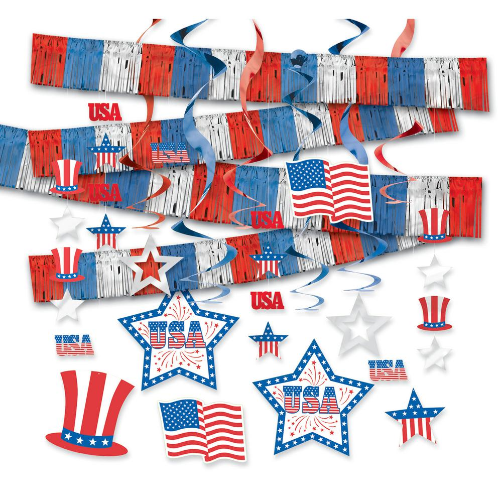 Amscan Patriotic Party Kit 22 Count 243504 The Home Depot