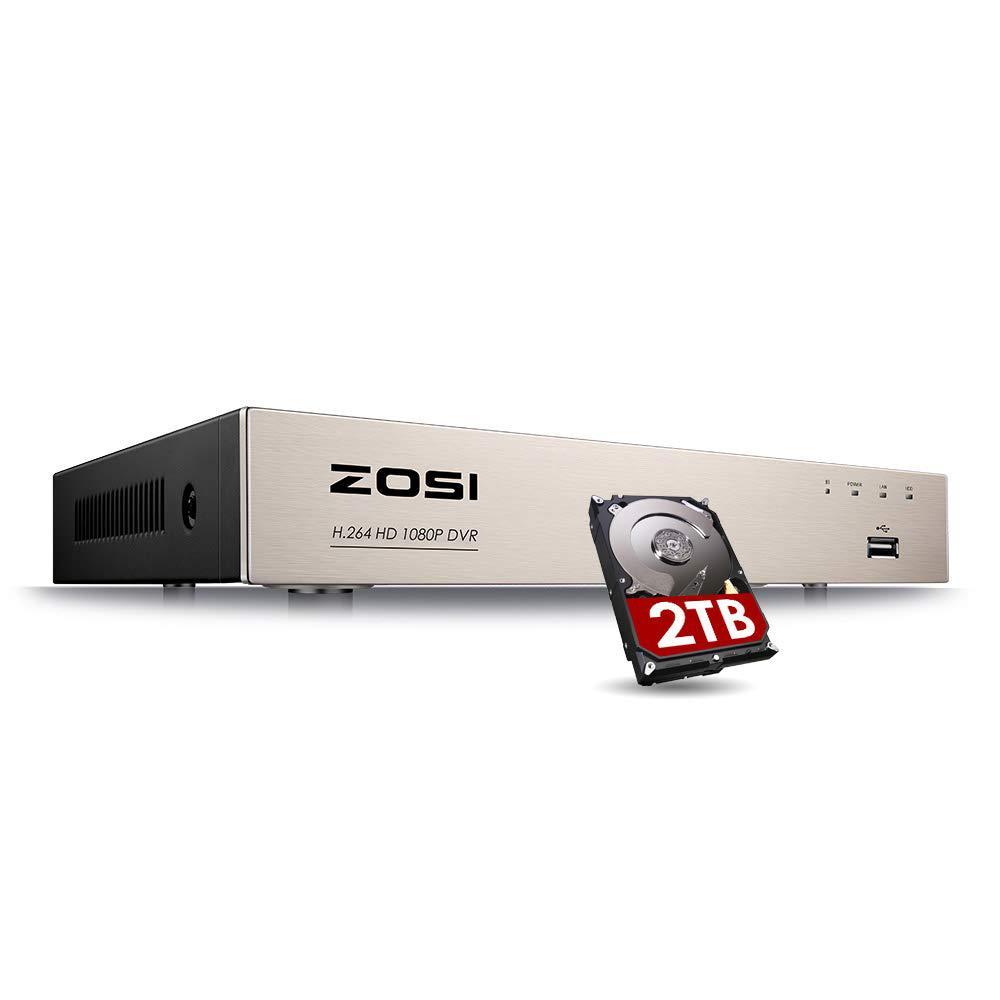 1080p 8-Channel Surveillance DVR Recorder Security 2TB Hard Drive for HD-TVI, CVI, CVBS, AHD 720p/1080p CCTV Cameras