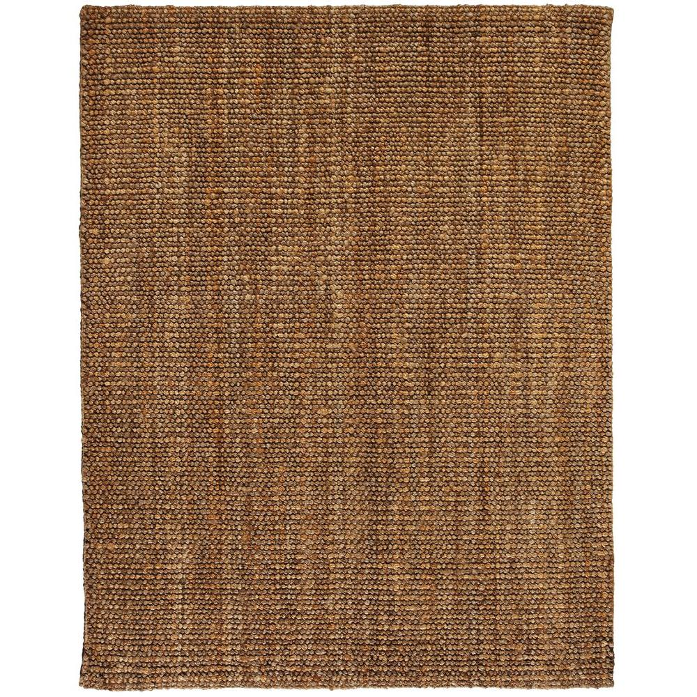 Anji Mountain Mira Tan and Silver Grey 9 ft. x 12 ft. Jute Area Rug