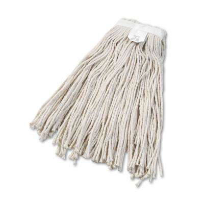 Cut-End Wet Mop Head, Cotton, No. 24, White 12/Carton