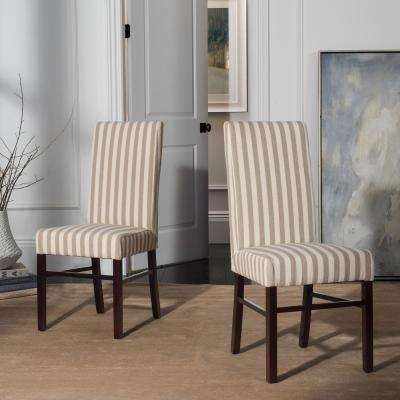 Cream and Tan Dining Chair (Set of 2)