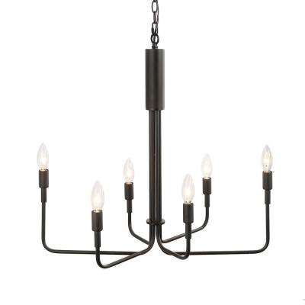 Arlin 6-Light Black Chandelier