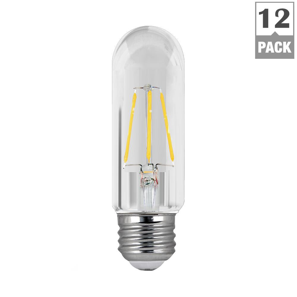 40W Equivalent Daylight (5000K) T10 Dimmable Filament LED Clear Glass Light