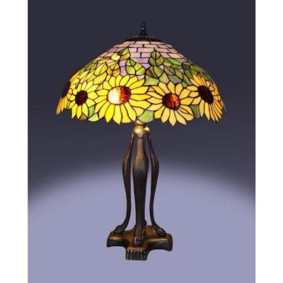 25 in. Tiffany Bronze Style Sunflower Table Lamp