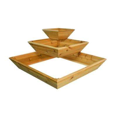 28 in. Natural Cedar Cascadia Planter