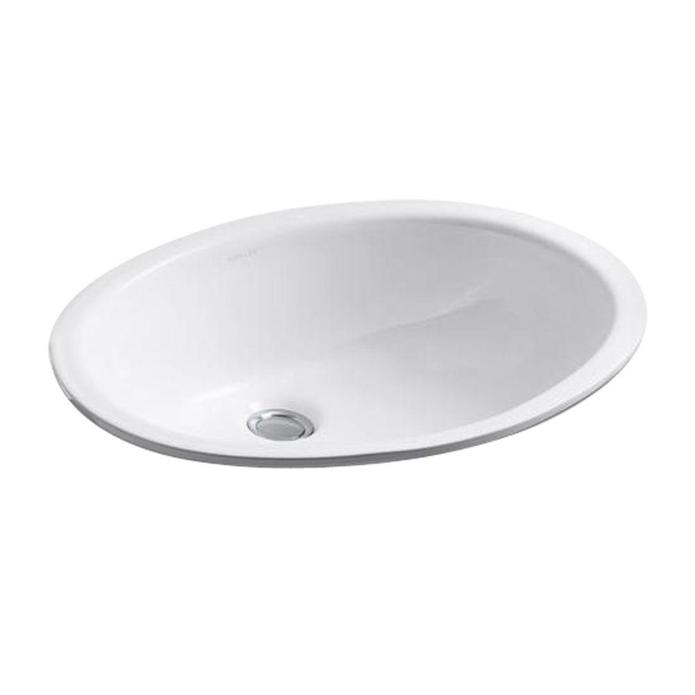 KOHLER Caxton Self-Rimming Bathroom Sink in White---DISCONTINUED