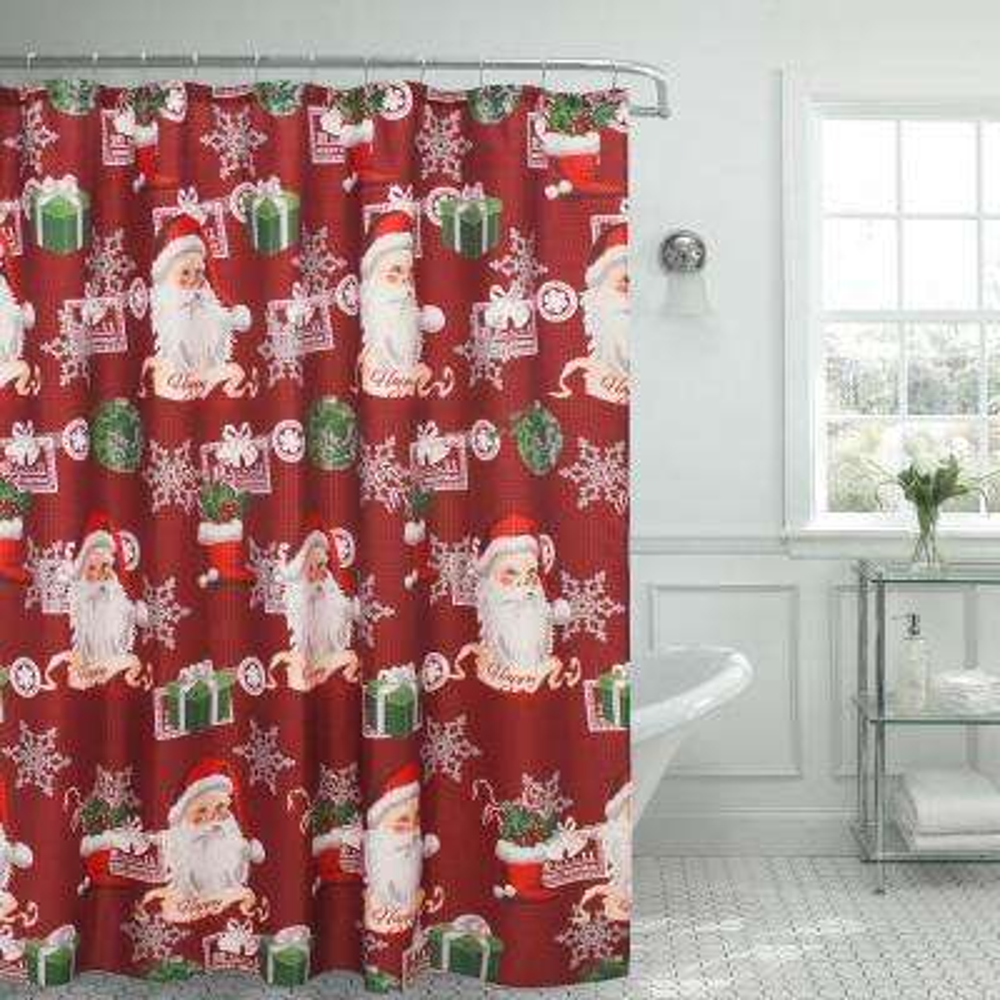 Ho Santa Textured Shower Curtain