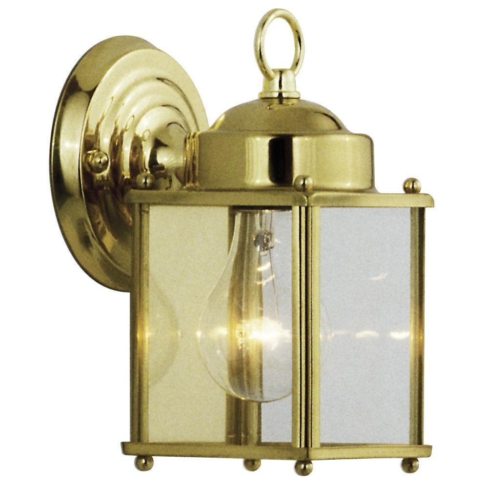 Filament Design Negron 1-Light Outdoor Polished Brass Wall Lantern