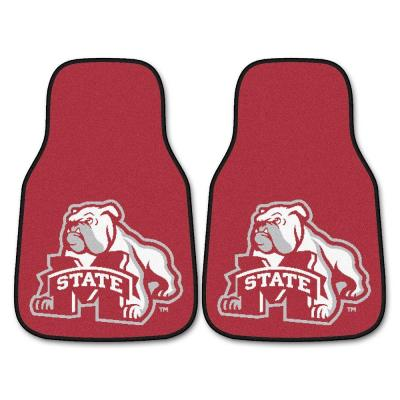 Mississippi State University 18 in. x 27 in. 2-Piece Carpeted Car Mat Set