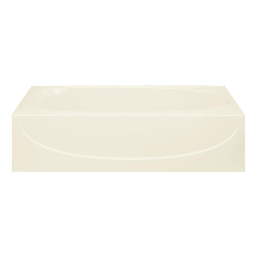 STERLING Acclaim 5 ft. Right Drain Soaking Tub in Biscuit