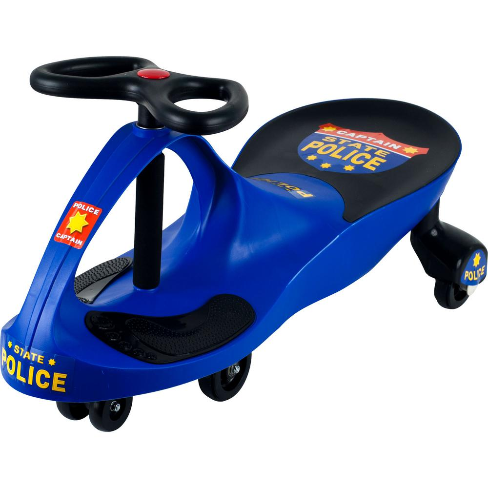 Hey! Play! Ride on Toy Wiggle Police Car