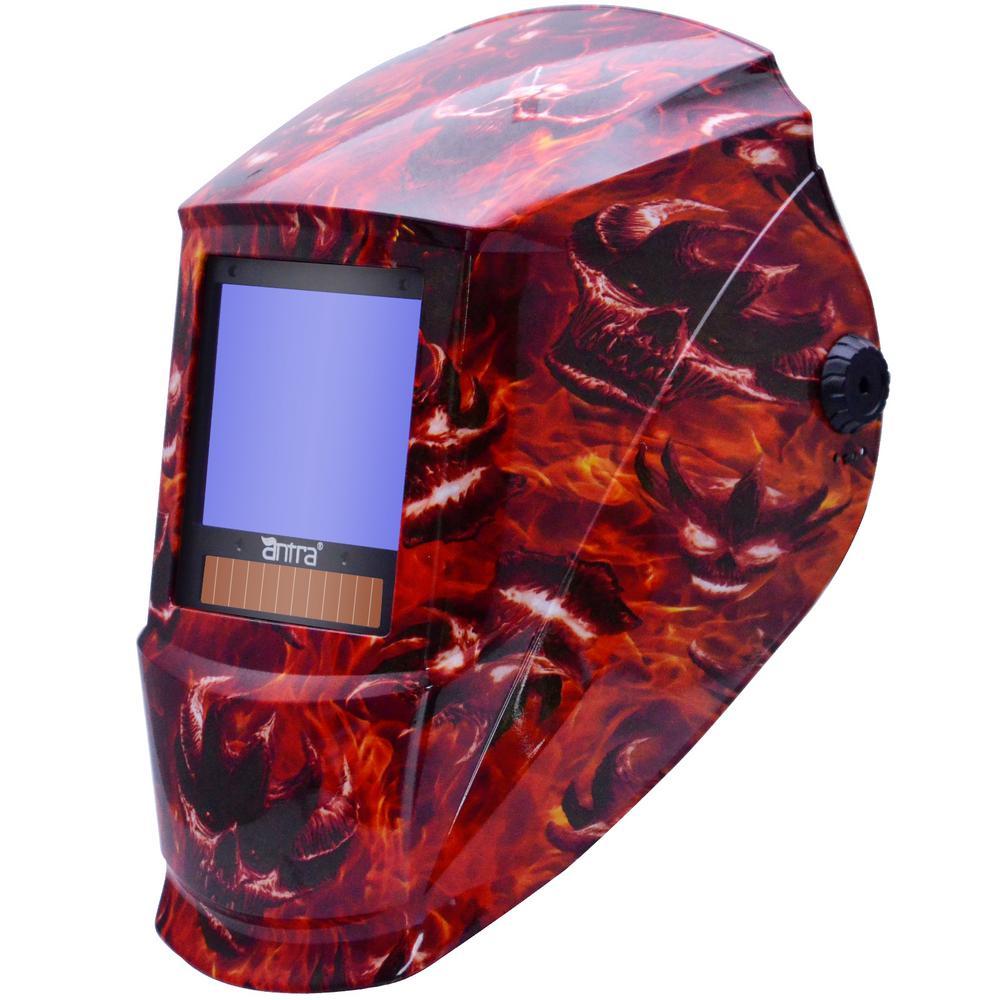 3.86 in. x 3.23 in. Auto Darkening Welding Helmet with Large Viewing Size