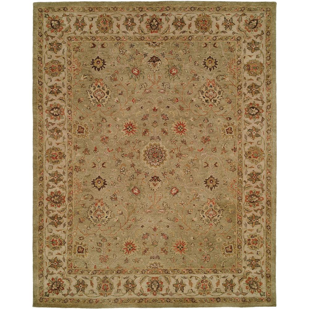 Empire Green/Ivory 2 ft. x 3 ft. Area Rug