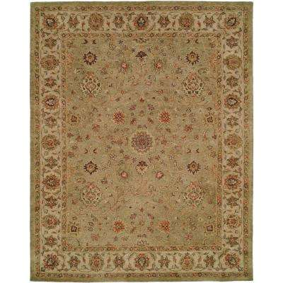Empire Green/Ivory 6 ft. x 9 ft. Area Rug