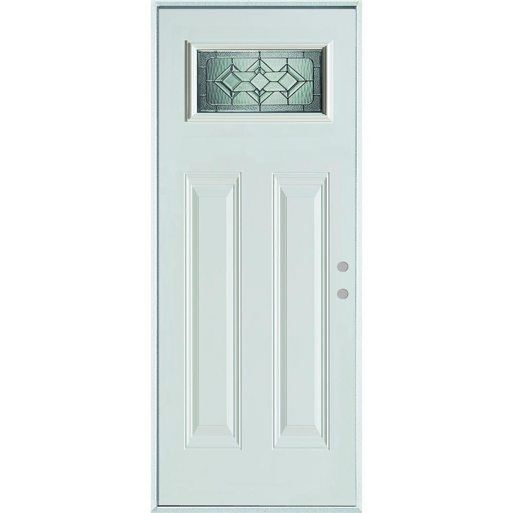 36 in. x 80 in. Neo-Deco Zinc Rectangular 1 Lite 2-  sc 1 st  The Home Depot & Bright Zinc - Prefinished White/Zinc Glass Caming - The Home Depot pezcame.com