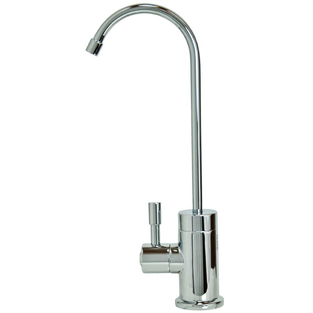 null Single-Handle Standard Kitchen Faucet in Polished Chrome