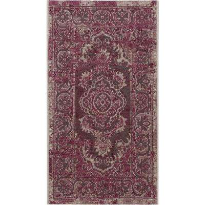 Palazzo Gray/Purple 2 ft. x 4 ft. Area Rug