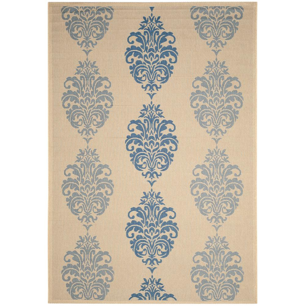Safavieh Courtyard Natural/Blue 8 ft. x 11 ft. Indoor/Outdoor Area Rug
