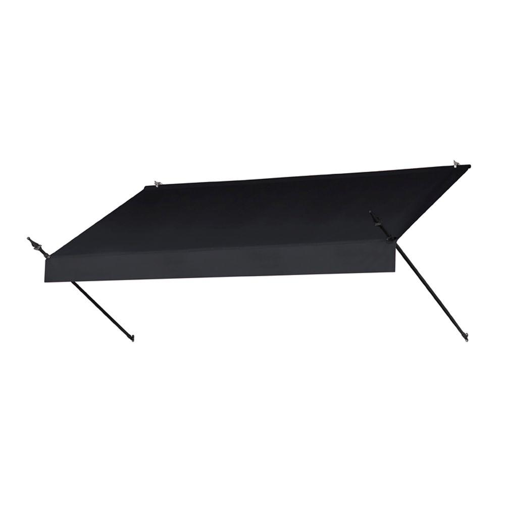 8 ft. Designer Manually Retractable Awning (36.5 in. Projection) in Ebony