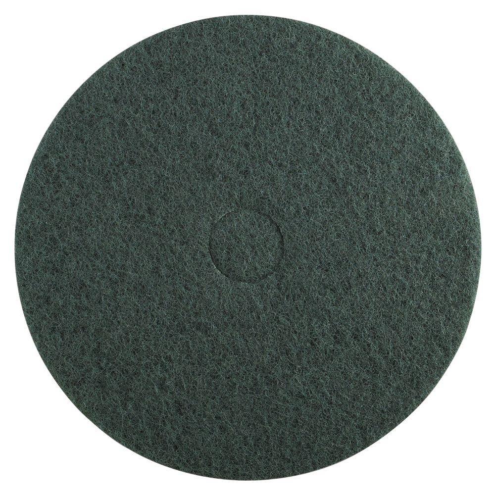 Premiere Pads 20 in. Dia Standard Heavy-Duty Scrubbing Green Floor Pad (Case of 5)