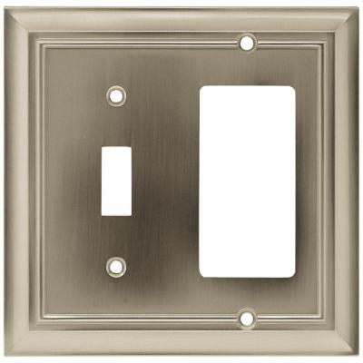 Nickel 2-Gang 1-Toggle/1-Decorator/Rocker Wall Plate (1-Pack)