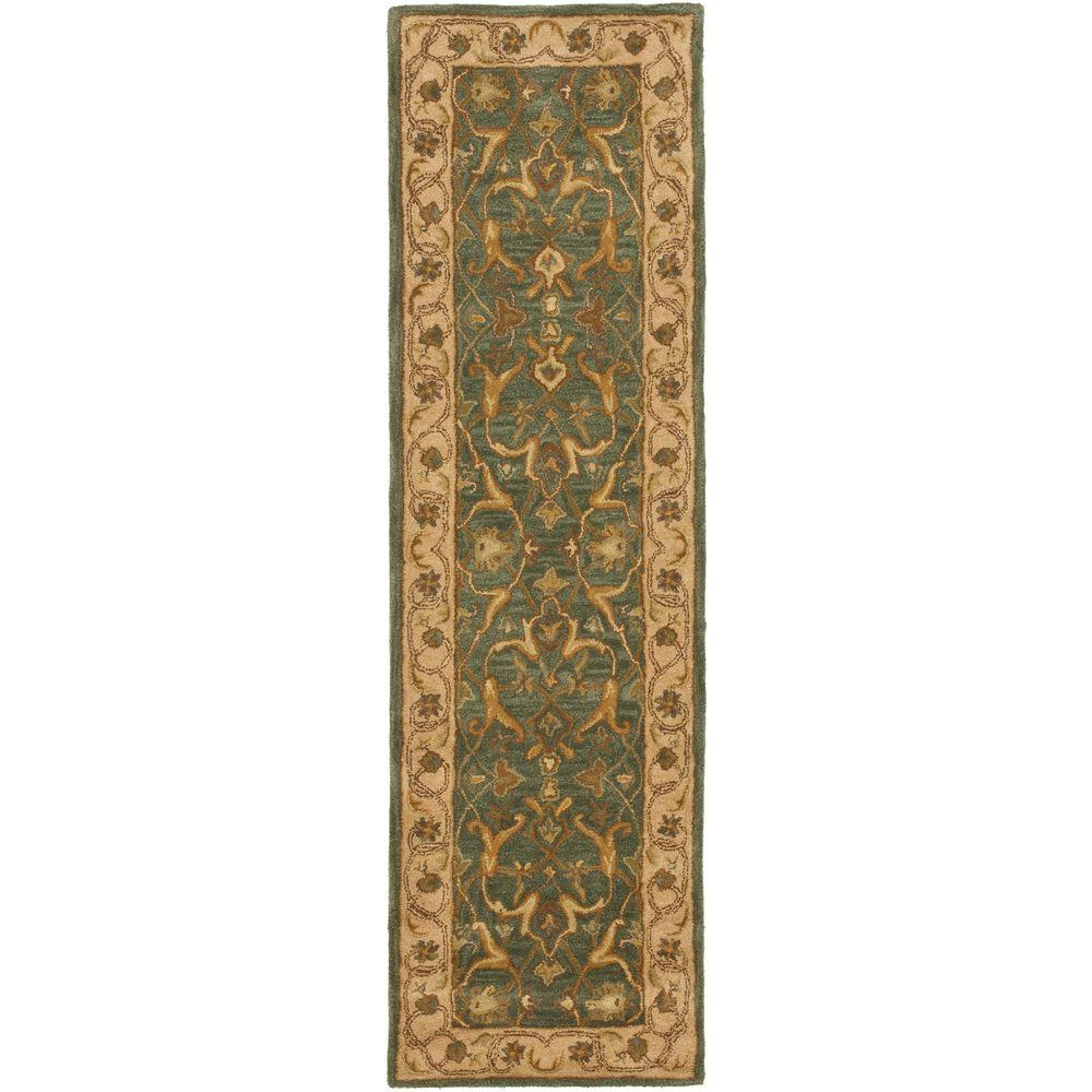 Heritage Blue/Beige 2 ft. 3 in. x 10 ft. Runner